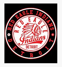 Red Eagle Indians Detroit Ice Hockey Photographic Print