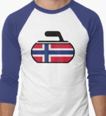 Norwegian Curling Men's Baseball ¾ T-Shirt