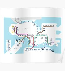 Hong Kong MTR Map 2016 Poster