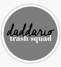 Daddario Trash Squad - Black Sticker