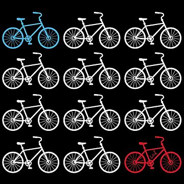 Red White and Blue Cycles Design by huliodoyle