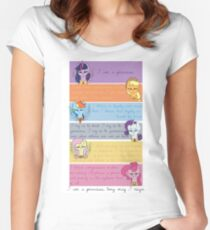 I Am A Princess [Mane 6] Women's Fitted Scoop T-Shirt