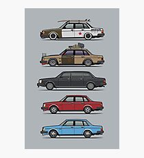 Stack of Volvo 240 Series 244 Sedans Photographic Print