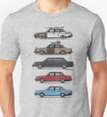 Stack of Volvo 240 Series 244 Sedans Unisex T-Shirt