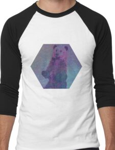 Bear Nebula (brown bear in a starry sky) Men's Baseball ¾ T-Shirt