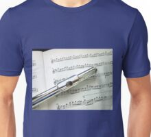 Pause for Breath - Flute and Sheet Music Unisex T-Shirt