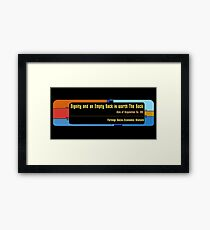 Rule of Acquisition No. 109 (simple) Framed Print