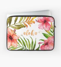 Funda para portátil Hawaiian Tropical Floral Aloha Watercolor
