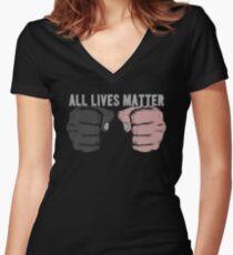 All Lives Matter Women's Fitted V-Neck T-Shirt