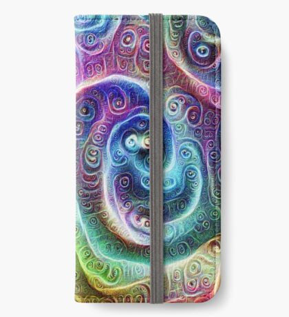 DeepDream Tomato Steelblue 5x5K v9 iPhone Wallet