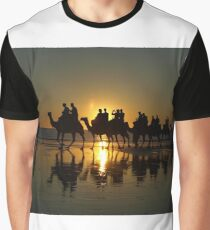 Cable Beach Camels at Sunset Graphic T-Shirt
