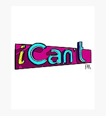 iCan't - iCarly Logo Spoof Photographic Print