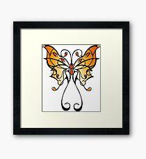 Fun Playful Butterfly! Framed Print