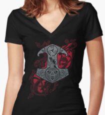 RAVEN'S MJOLNIR Women's Fitted V-Neck T-Shirt