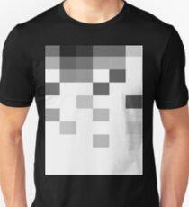 Gray Scale In Pixels Unisex T-Shirt