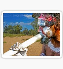 Play Your Didgeridoo Blue Sticker