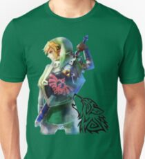 Zelda Link with Wolf T-Shirt