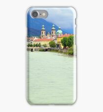 Innsbruck and Inn river, Tyrol, Austria iPhone Case/Skin