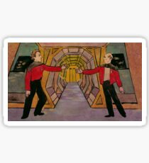Q and Picard Sticker