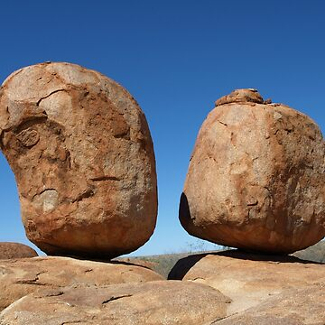 Precariously Poised - Devils Marbles, Northern Territory by CassarrArt
