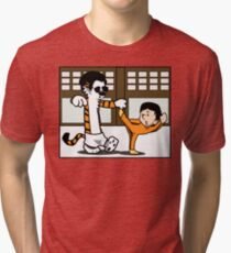 Calvin And Hobbes : Kungfu Master Tri-blend T-Shirt