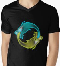 Two Dragons, two Brothers V-Neck T-Shirt