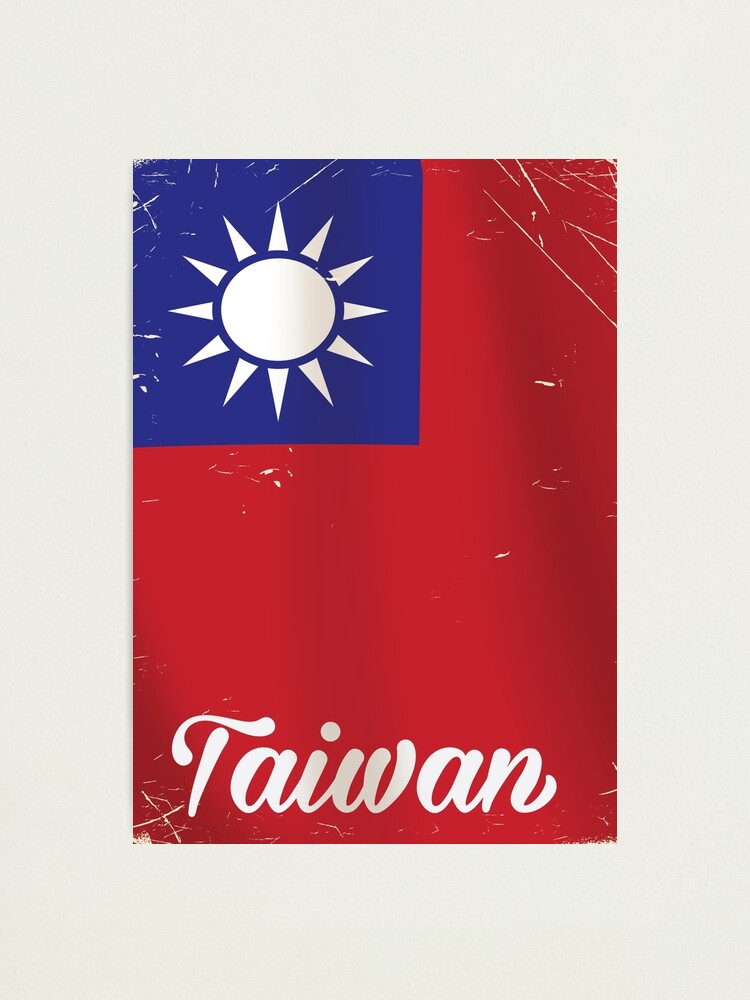 Alternate view of Taiwan National Flag Travel poster  Photographic Print