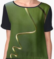 Spring Shaped Passion Flower Tendril Chiffon Top