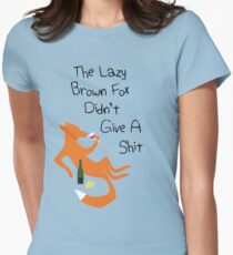 The Lazy Brown Fox Didn't Give A Shit Womens Fitted T-Shirt