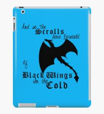 Black Wings In The Cold iPad Case/Skin