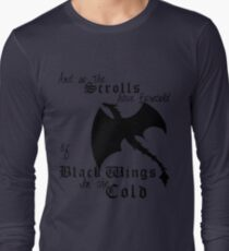 Black Wings In The Cold Long Sleeve T-Shirt