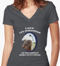 Li'l Sebastian T-Shirt Women's Fitted V-Neck T-Shirt