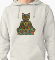 PEACE MANEKI NEKO LUCKY BLACK CAT Pullover Hoodie