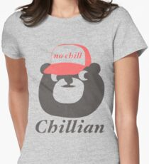 no chill bear Women's Fitted T-Shirt