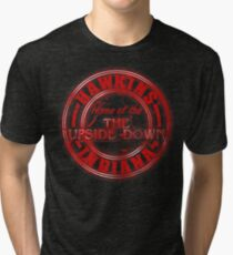 Hawkins - Home of the Upside Down. Tri-blend T-Shirt