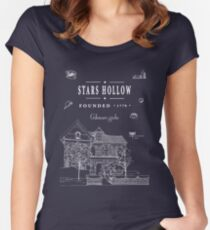 Stars Hollow Collage Women's Fitted Scoop T-Shirt