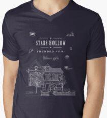 Stars Hollow Collage Men's V-Neck T-Shirt