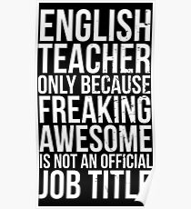 English Teacher: Posters | Redbubble