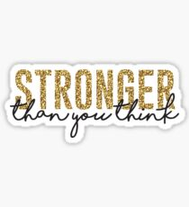 Stärker als Sie denken Sticker