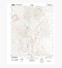 USGS TOPO Map Arizona AZ Willow Beach 20111027 TM Photographic Print