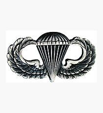 Paratrooper Jump Wings Photographic Print