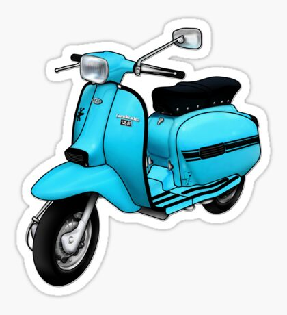 Scooter T-shirts Art: DL 125 Scooter Design Sticker