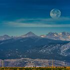 Moonset Over Indian Peaks by Gregory J Summers