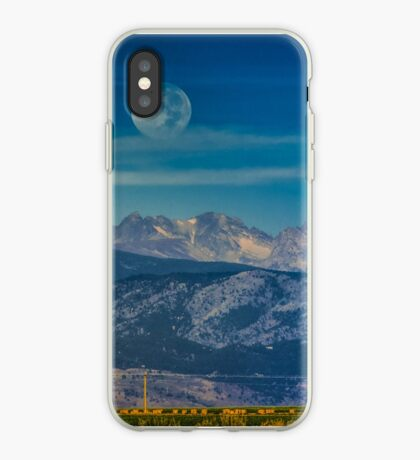 Moonset Over Indian Peaks iPhone Case
