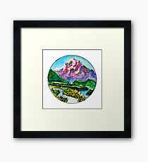 I am the mountain Framed Print