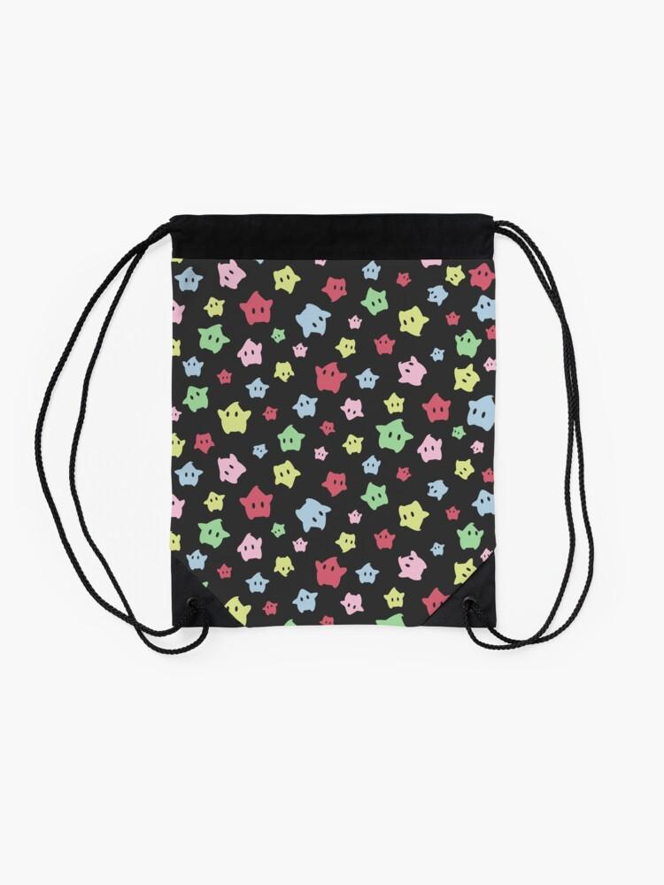 Alternate view of Luma Print Black Drawstring Bag