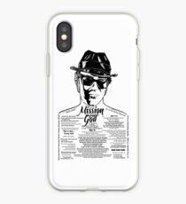 Elwood Blues Brothers tattooed 'Dry White Toast' iPhone Case