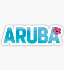 Aruba Design with Flower Sticker