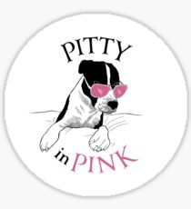 Pitty in Pink Sticker