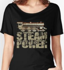 Steam Power Vintage Steam Engine Women's Relaxed Fit T-Shirt